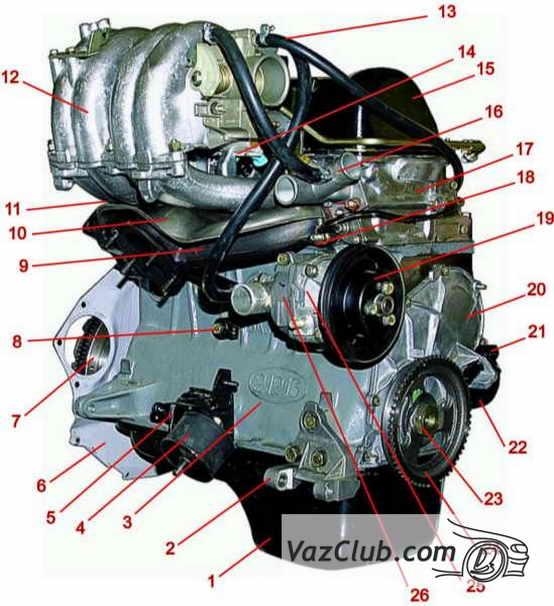 Двигатель ВАЗ-21214 1 - поддон